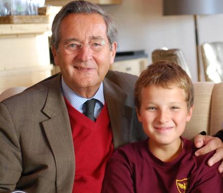 Fürst Alexander mit seinem Enkel Prinz Alexander