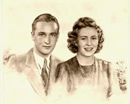 Verlobungsbild von Prinz Ludwig zu Sayn-Wittgenstein-Sayn und Freiin Marianne von Mayr-Melnhof