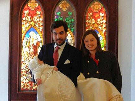 Prinz Louis und Prinzessin Philippa mit Prinz Vinzenz Alexander