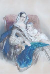 Leonilla mit Tochter Antoinette (Johann S.Otto)